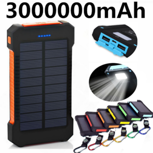 3000000mAh Backup External Battery 2 USB Power Bank Pack Charger for Cell Phone