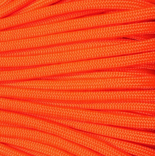 Quality US 550 paracord Neon Orange-Various Lengths available 3 mm Nylon Cord