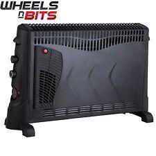 NUOVO J-Living 2kw 2000 WATT convettore riscaldatore con TURBO A VENTOLA & Timer 24hr-Nero