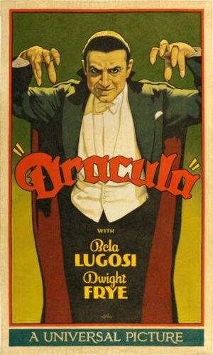 "Dracula Movie Poster Replica 11.5 x 19/"" Photo Print"