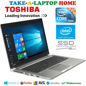 Toshiba-Tecra-Z-Series-Laptop-i5-2-7GHz-Slim-Design-Windows10-Pro-SSD-Backlit-KB