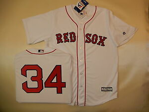 7310 MAJESTIC Boston Red Sox DAVID ORTIZ  34 SEWN Cool Base Baseball ... 893a44bfaba