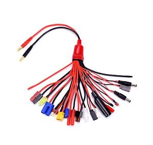 Hobbypark XT60 Connector Plugs to EC3 Adapter RC Lipo Battery Charger Conversion w//Battery Straps
