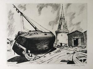 Maxime Juan (1900) Tour De La Lanterne, La Rochelle Marine Bateau Voile Charente