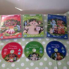 In The Night Garden DVD's x 3 - Hello Makka Pakka Upsy Daisy & Who's Here Gift