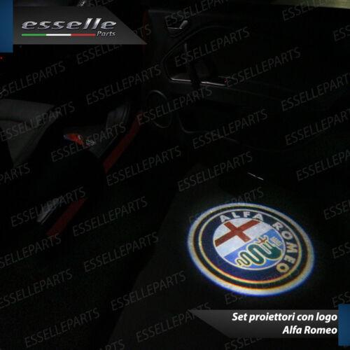 2 PLACCHETTE LED LOGO ALFA ROMEO LUCI DI CORTESIA PER ALFA STELVIO PORTIERE