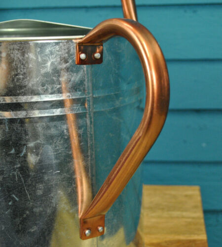 9 Litre Silver /& Copper Trim Metal Watering Can with Rose by Garden Selections