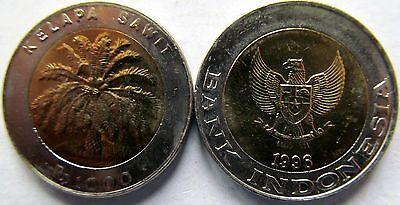 "Indonesia 1000 Rupiah 1996 ""Palm Tree"" UNC KM# 56 Bimetallic"