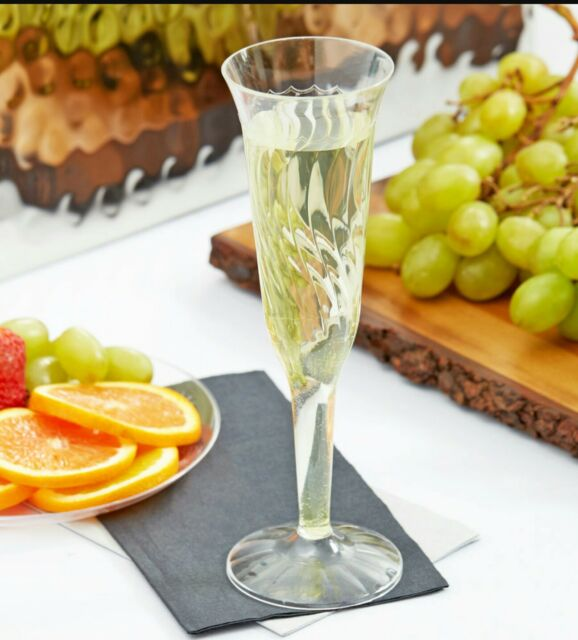 NEW  5OZ CLEAR CHAMPAGNE FLUTE 96pcs BOX BY FLAIRWARE FINELINESETTINGS