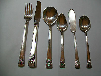 Original Rogers Deluxe Plate Mountain Rose Flatware by the Piece Choice