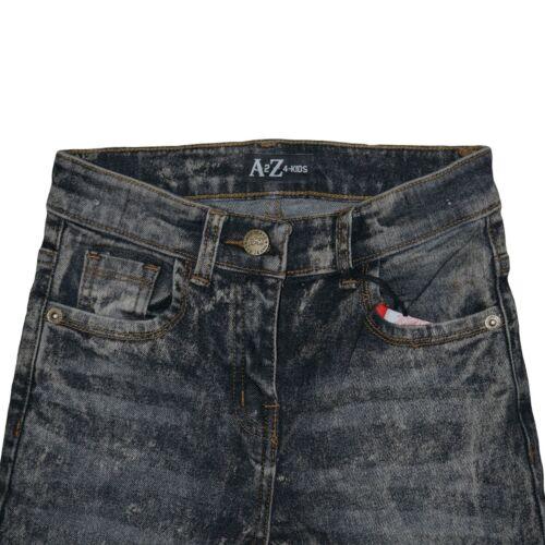 Bambine Elasticizzato Jeans Neri Denim Vestibilità Skinny Pantaloni Motociclista Pantaloni 5-13 anni