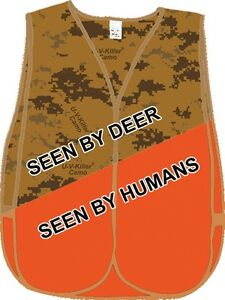 U-V-Killer Camo Blaze Orange Hunting Vest
