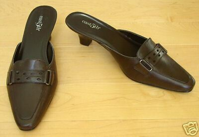 New east 5th Brown Leather Mules Slides Kendra 6