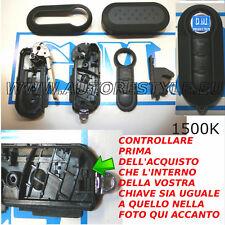 COVER CHIAVE COMPLETA NERA FIAT 500 BRAVO GRANDE PUNTO EVO - COVER COMPLETA