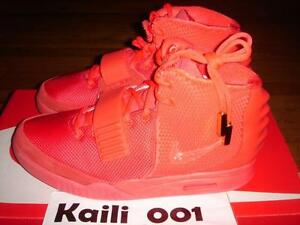 69d2a3e9fc5 Nike Air Yeezy 2 SP Size 10 Red October Platinum Solar NRG 508214 ...