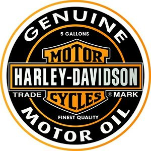 VINTAGE-HARLEY-DAVIDSON-DECAL-STICKER-LABEL-9-5-INCH-DIA-240-MM-MOTORBIKE