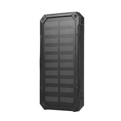 20000mAh Portable Dual USB Solar Power Bank External Battery Charger DIY Case