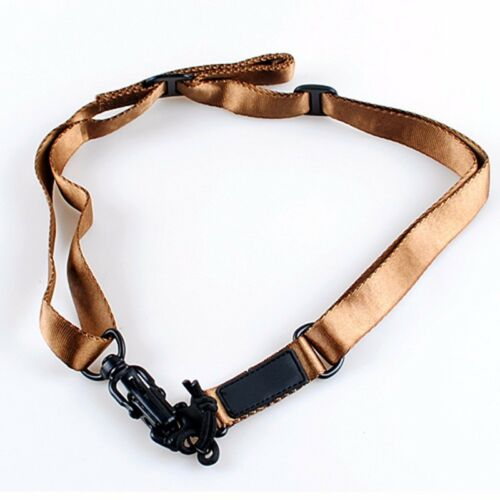 Tactical 2 Point Multi-Mission Rifle Sling Adjustable Hunting Protective Swivels