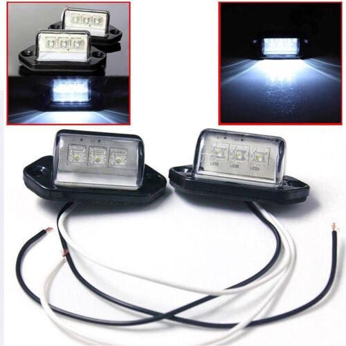 2Pcs 12V Car Truck License Plate White LED Light Lamp 6000K Waterproof Universal