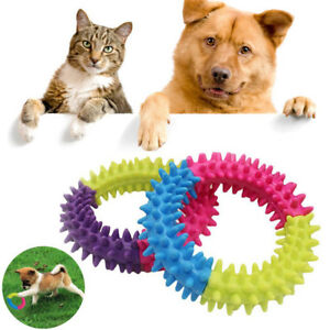 Dog-Toy-Puppy-Dental-Soft-Rubber-Teething-Play-Pet-Train-Chew-Ring-Healthy-Gums