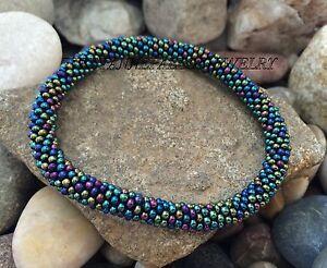 Image Is Loading Gl Seed Beads Nepal Bracelets Crochet Bracelet G765
