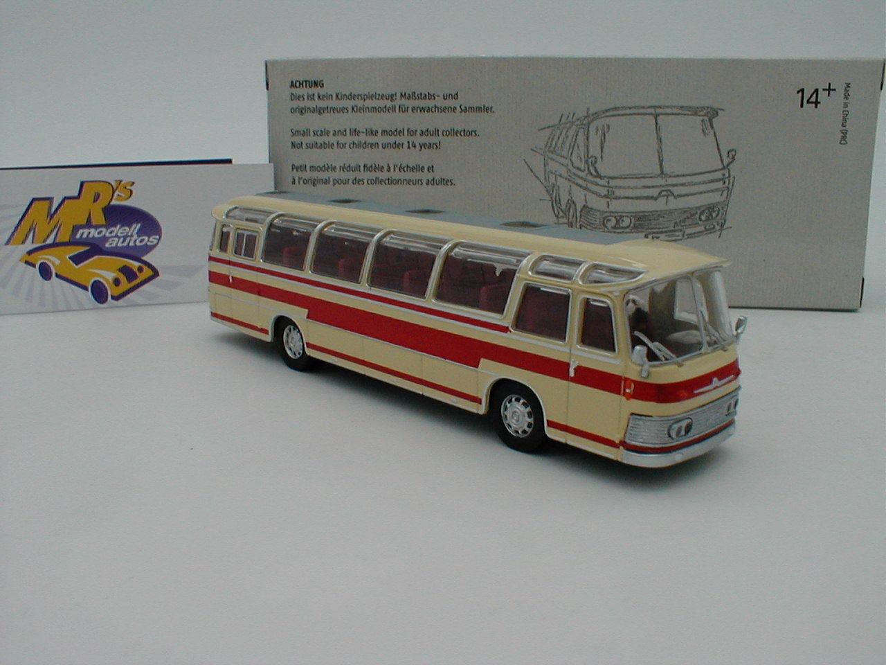 Brekina Starline 58231   Neoplan NS 12 Reisebus Bj. 1961   elfenbein-rot   1 87    Verbraucher zuerst