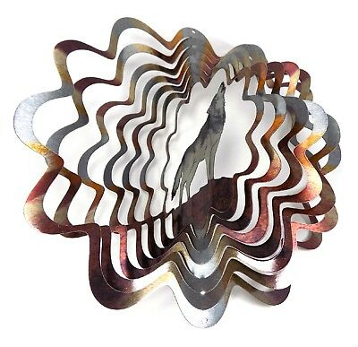 6.5 inch, Multi Color WorldaWhirl Whirligig 3D Wind Spinner Hand Painted Stainless Steel Twister Horse Amorpax Inc