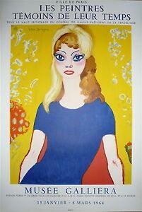 VAN-DONGEN-KEES-Affiche-Lithographie-Mourlot-1964-Musee-Galliera-Brigitte-Bardot