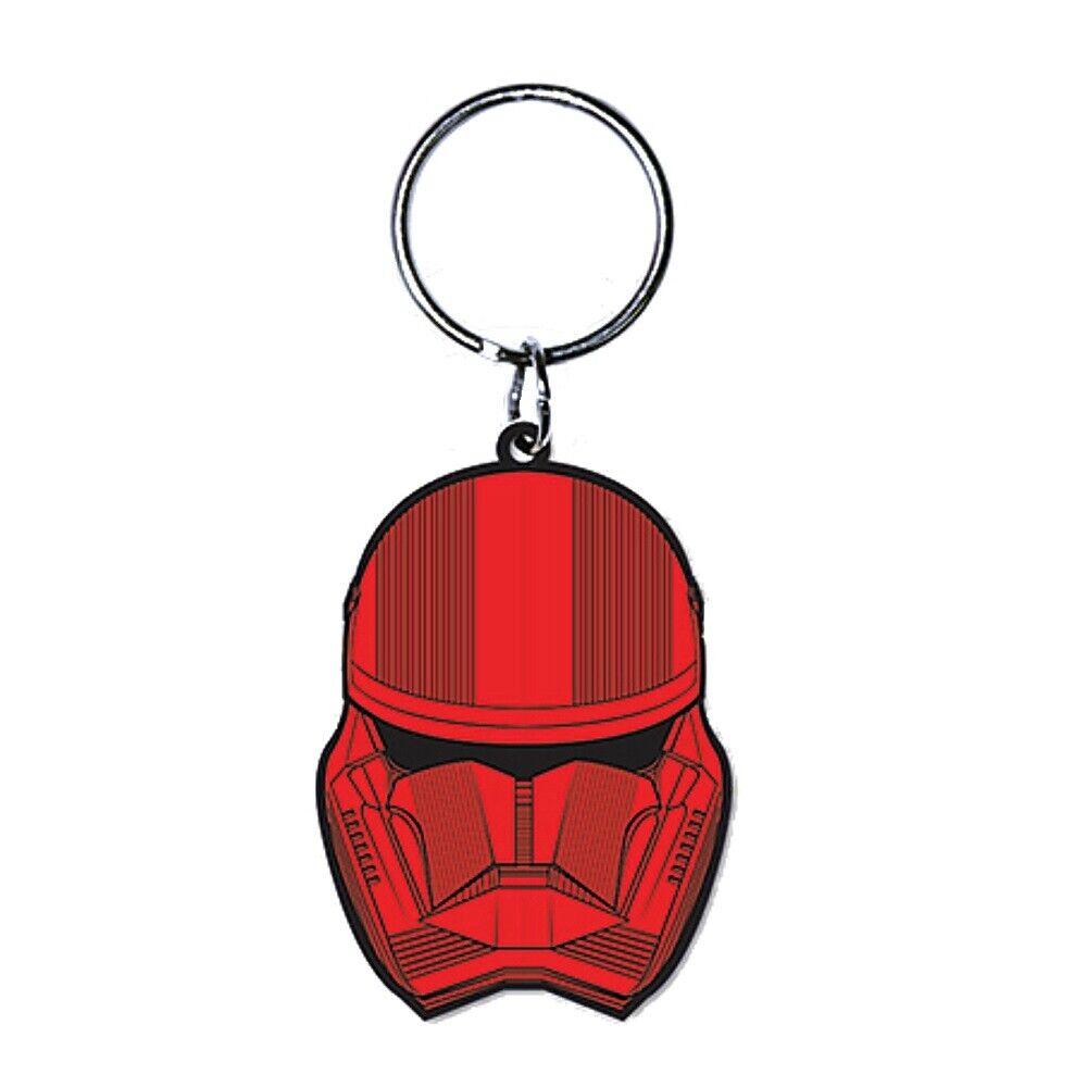 2019 DernièRe Conception Véritable Star Wars Sith Trooper La Montée De Skywalker Caoutchouc Porte-clés Porte-clés Texture Nette