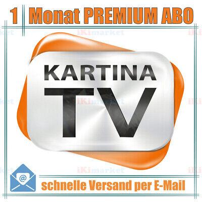 Premium Paket Kartina TV 1 Monat ABO Kartina X WiFi 4k TV-Box русское тв