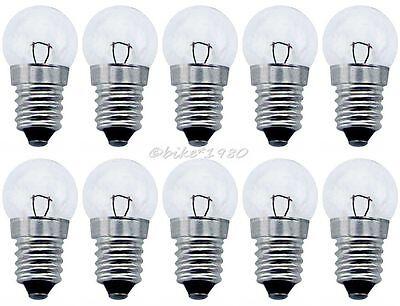 10 x Ersatzbirnen 6V 2,4W Fahrrad Glühbirne für Standardscheinwerfer Lampe vorne