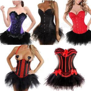 Burlesque Moulin Rouge Can Can Girl Fancy Dress Costume Corset Outfit Many Style Ebay