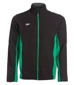 Speedo-Boom-Force-Swimming-Warm-Up-Jacket-Black-amp-Green-Womens-Medium-NEW-78