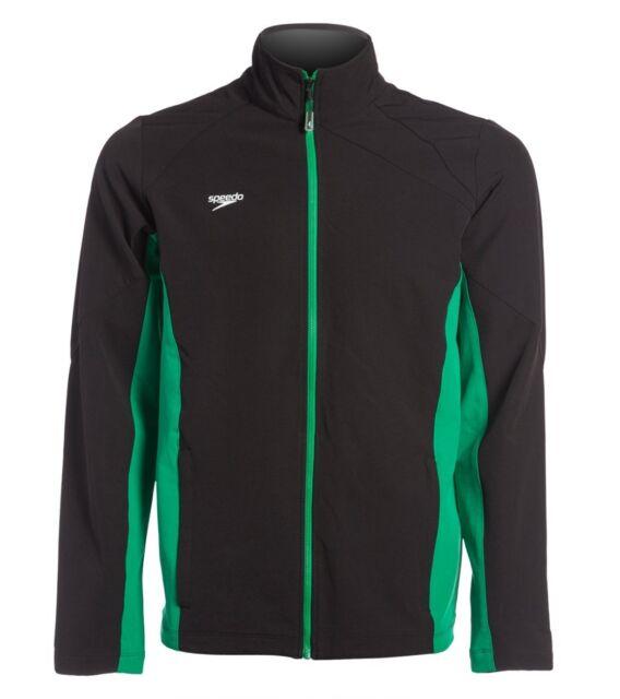 Speedo Boom Force Swimming Warm Up Jacket Black & Green Womens Medium *NEW* $78