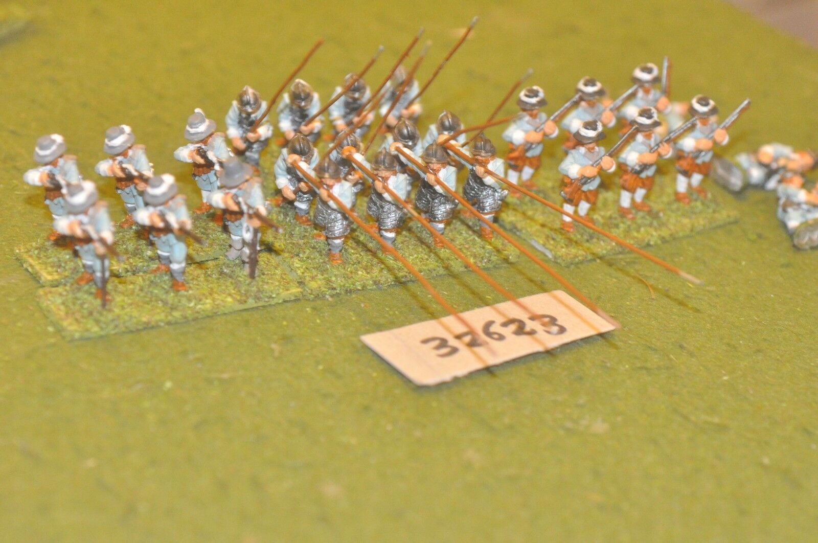 25mm ECW   royalist - pike & shot 24 figures - inf (32623)