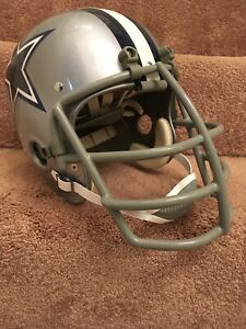 Vintage RK2 Style Football Helmet 1968 Dallas Cowboys Lilly NJOP Square Jaw Mask