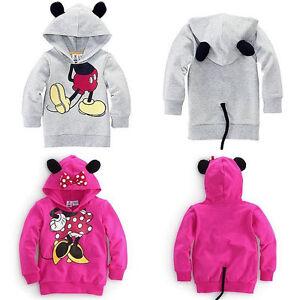 Kinder-Mickey-Minnie-Kapuzenpullover-Sweatshirt-Hoodie-Sweater-Pulli-Oberteile