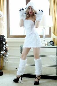 White-Furry-Animal-Sexy-Polar-Bear-Girl-Adult-Woman-Costume-for-Halloween-Party