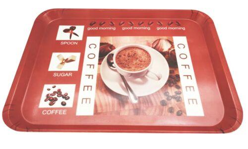 Rectangular Melamine Coffee Serving Kitchen Tray 18 x 12.8 Inches