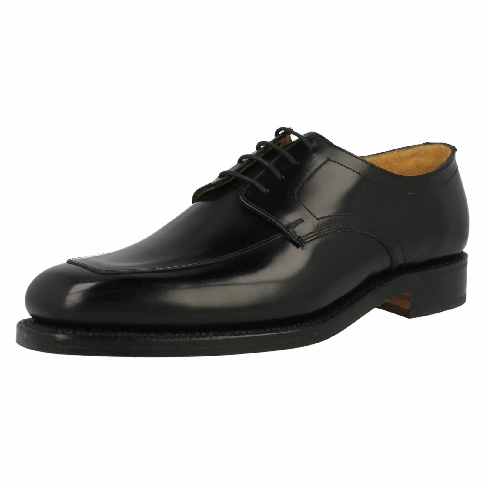 Mens Grensons Black Leather Formal Lace Up Shoes G Fitting Stirling