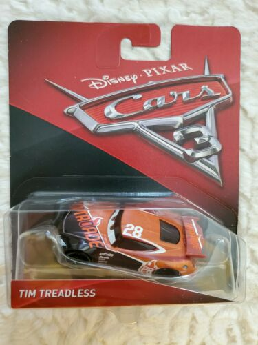 Disney Pixar Cars 3 Tim Treadless #28 Nitroade Diecast Mattel 1:55