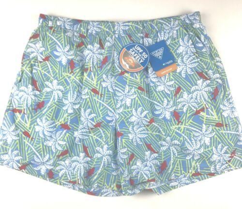 Columbia PFG Mens XL 6/'/' Ins.Super Backcast Fish//Palms Print Water Swim Shorts