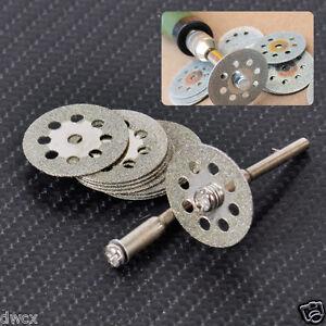 10x 20mm Diamond Cutting Disc Metal Grinding Wheel Disc for Drill Rotary Tool /_U