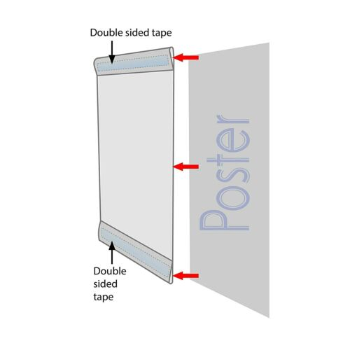 Wall Mount Sign Holder 8.5x11 inch Clear Acrylic with Adhesive No Drilling