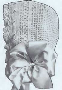 Vintage Antique Tatting PATTERN to make Baby Cap Hat Bonnet Doll Frilly OldTime