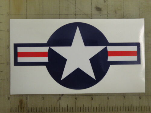 """Vintage Star and Bars red//wht//blu decal sticker 8/""""x4.2/"""""""
