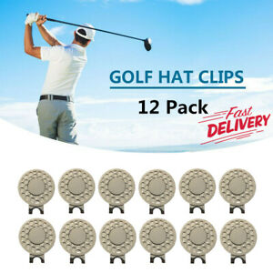 12-Pack-Magnetic-Hat-Clip-Golf-Ball-Marker-Hat-Clip-Putting-Attaches-To-Any-Hats