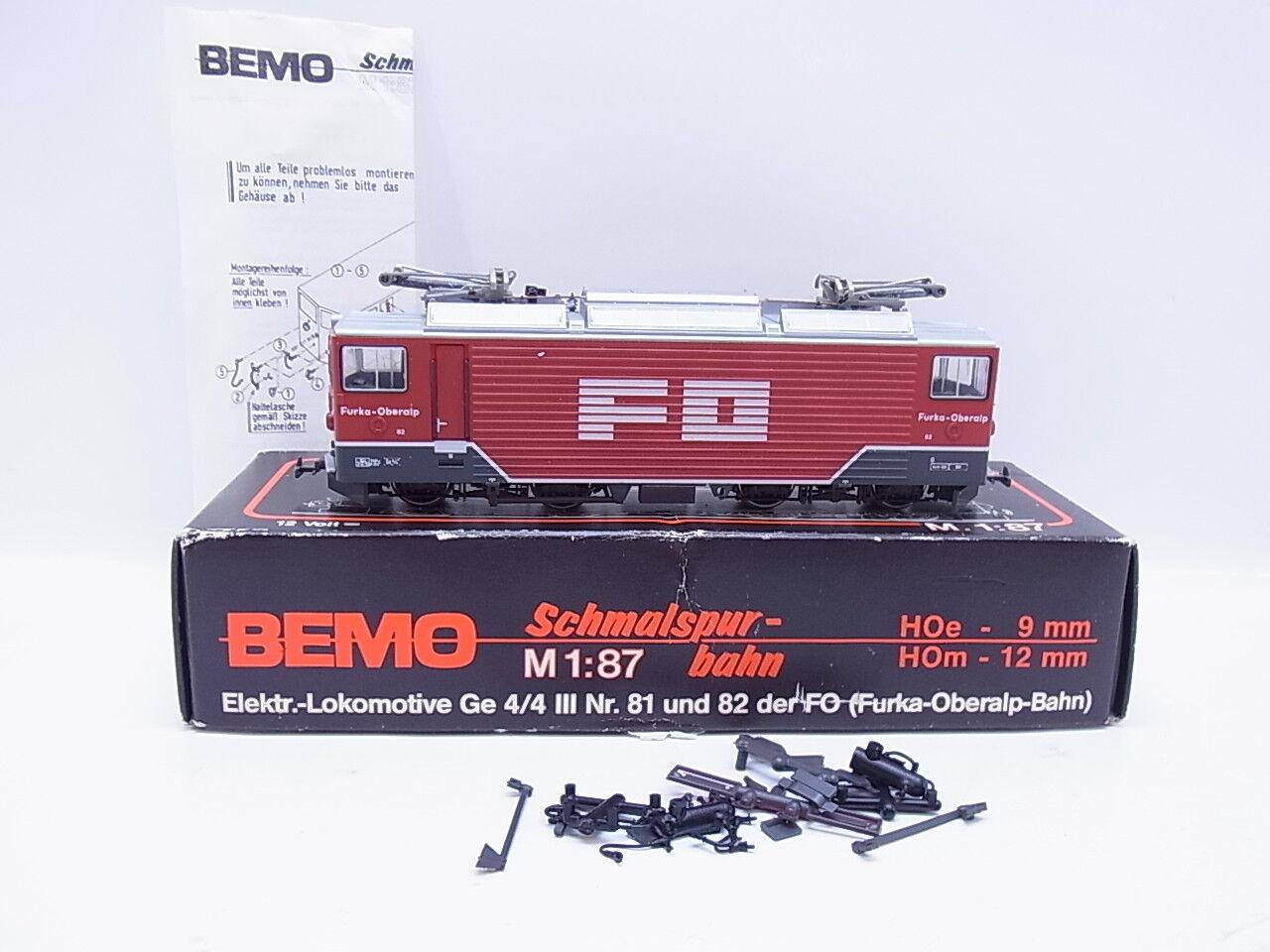 46975 | BEMO h0m 1260/2 E-Lok GE 4/4 della f0 Furka-Oberalp pronto di guida in scatola originale