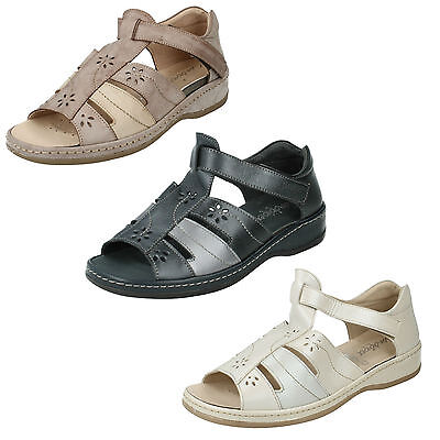 SANDPIPER CARLY LADIES OPEN TOE CLOSED BACK RIPTAPE FASTENING CASUAL SANDALS | eBay