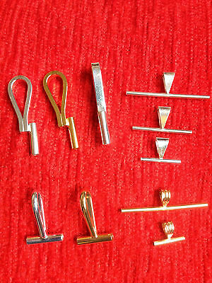Convert any Pin into a Necklace Gold Plated SMALL Horizontal Pin Converter